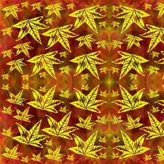 yellowleaves fabric by y-knot_designs on Spoonflower - custom fabric