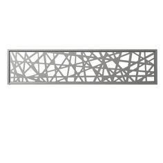 Panneau décor en alu Idaho gris clair 177 x 42 cm - CASTORAMA