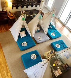 Upcountry Camp offers luxury tent and teepee rentals for parties, sleepovers and camping in and around Mississippi. Canvas Teepee, A Frame Tent, Teepee Party, Indoor Camping, Go Glamping, Luxury Tents, Girl Themes, Sleepover Party, Girl Decor