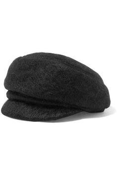 fcc9987b455 ... dark-gray faux fur wool Specialist clean. Eugenia Kim - Carmella  Mohair-blend Cap - Black