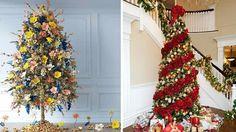 Árboles de Navidad decorados con flores - Contenido seleccionado con la ayuda de http://r4s.to/r4s