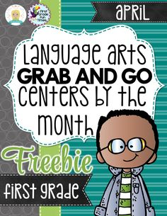 Free set of 4 literacy centers. First Grade Reading, First Grade Writing