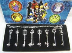 Kingdom Hearts Sora Weapon Necklaces KHWP KHNL3220 | 123COSPLAY | Anime Merchandise Shop Free Shipping From China | Anime Wholesale