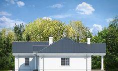 Красивый дом с большим гаражом и с чердачным помещением S8-227-5 (Дом на Парковой). Фасад 2. Shop-project