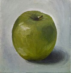 """""""Apple"""" acrylic on canvas"""