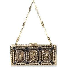 Judith Leiber Large Channeled 'Three Treasures' Evening Clutch