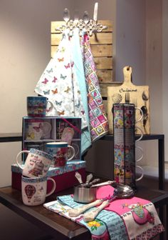 BHS HOME, SS14, Curiosity, Vintage, Kitchen, Tea towels, Mugs, Press day