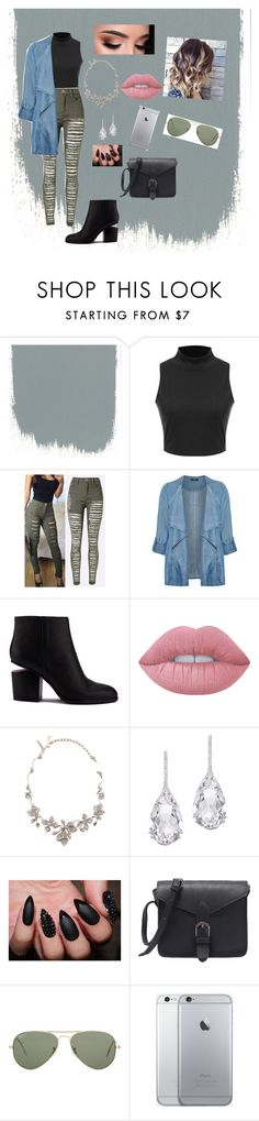 """""""Why Not"""" by karlagtz on Polyvore featuring Evans, Alexander Wang, Lime Crime, Oscar de la Renta, Plukka and Ray-Ban"""