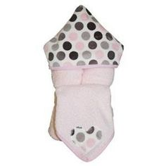 Namely Newborns - Personalized Pink Hooded Towel - Pink. Gray is the coolest color this year and our pink and gray dot minky hood allows this adorable little girlcotton terry hooded towel to match all of the popular gray accessories. $39.95