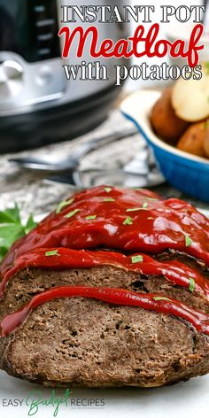 Flavorful meatloaf and tender seasoned potatoes, just what your family asked for, but with a lot less time! Follow Easy Budget Recipes for more comfort food recipes! Budget Dinners, Easy Budget, Dinner On A Budget, Budget Recipes, Weeknight Dinners, Family Recipes, Family Meals, Entree Recipes, Lunch Recipes