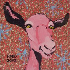 AnnMarie O'Dowd painting #goatvet collects art which feature goats