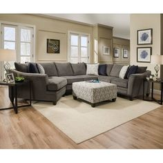 Simmons Upholstery Sectional Sofa Furniture: Mattresses and Bedding Living Room Interior, Home Living Room, Living Room Designs, Living Room Decor, Living Spaces, Sofa Furniture, Living Room Furniture, Rustic Furniture, Modern Furniture