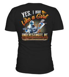 Shirt I LOVE MOTORCYCLING  back