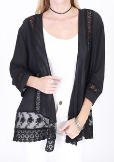 Black Sheer Lightweight Cover Up/Kimono - Sm to Lg #shoptiqueslivefeed S-1, M-1, L-1 - $45 Wine Down Friday   Weekend SALE ~ Take advantage of this warm weather and go SHOPPING!  * Clothing: 30% off  * Name Brands & THIS WEEKS new arrivals 20% off * Winter Items Clearance 60% off * Jewelry 20% off (excluding Ronaldo)