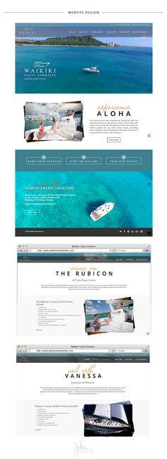 Waikiki Yacht Charters Website Design by Julie Harris Design