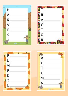 Twinkl Resources >> Harvest and Autumn Acrostic Poems >> Printable resources for Primary, EYFS, KS1 and SEN. Thousands of classroom displays and teaching aids! Topics, Autumn, Harvest, Acrostic, Poems, Activities