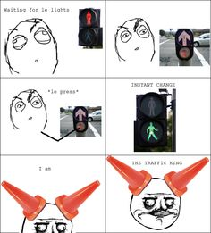 Le Traffic King - View more rage comics at http://leragecomics.com