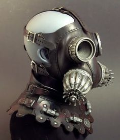 gas masks and helmets