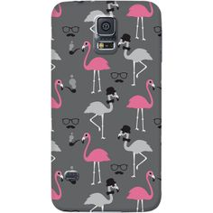 Hipster Flamingo Phone Case (LOL! Great print!)
