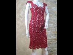 vestidos em croche inspirações (video aula do ponto do vestido vermelho no link da descrição) - YouTube