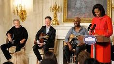 Michelle Obama, Kris Kristofferson, Lyle Lovett and Darius Rucker Country Music, Lyle Lovett, Political Images, Kris Kristofferson, Michelle Obama, Photo S, That Look, Politics, My Love
