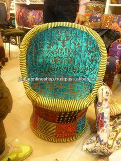 Indian Handmade Vintage sari quilt~Maharaja Chair, Sofa, Poufs, Ottomans, Stools $10~$25