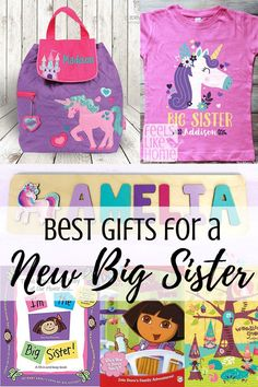 The Best Gifts for a New Big Sister - Best gift ideas for a new big sister or any older siblings – The best gifts to get for children w - Big Sister Bag, New Big Sister Gifts, Cool Gifts For Kids, Gifts For Dad, Baby Gifts, Big Sibling Gifts, Sisters Presents, Hospital Gifts, Older Siblings