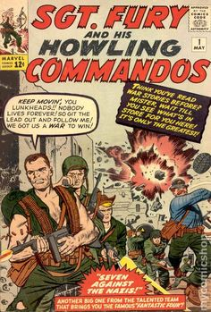 SGT. FURY AND HIS HOWLING COMMANDOS 1, SILVER AGE MARVEL COMICS