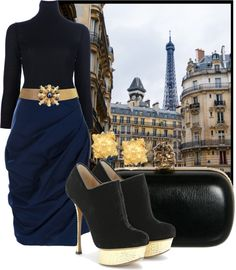 """""""Belle Epoque Modern"""" by ssquared on Polyvore"""