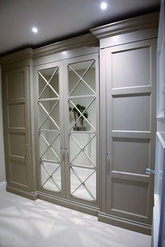 ideas for bedroom wardrobe storage design Bedroom Closet Doors, Bedroom Cupboards, Wardrobe Doors, Bedroom Wardrobe, Hallway Closet, Wardrobe Storage, Glass Cabinet Doors, Glass Door, Closet Designs