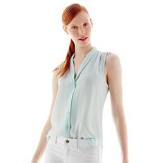 Joe Fresh™ Shawl-Collar Sleeveless Top - jcpenney