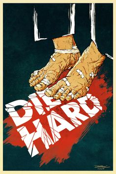 An alternative movie poster for the film Die Hard, created by Derek Chatwood, featured on AMP Best Movie Posters, Classic Movie Posters, Minimal Movie Posters, Cinema Posters, Movie Poster Art, Film Posters, Art Posters, Hard Movie, Non Plus Ultra