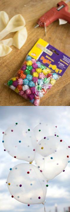 Pom-Pom Balloons - Balloons, Party, Pom Pom