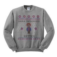 Zero Plucks Given Crewneck Sweatshirt, Ugly Holiday Sweater, Funny Thanksgiving Sweater Crewneck, Fe Ugly Sweater, Ugly Christmas Sweater, Holiday Sweaters, Christmas Clothes, Christmas Outfits, Funny Christmas, Family Christmas, Christmas Gifts, Stranger Things