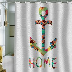 Bianca Green 'You Make Me Home' Shower Curtain
