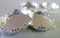 Silver Plated Pendant Tray Cabochon by ArtBoxSupplies on Etsy