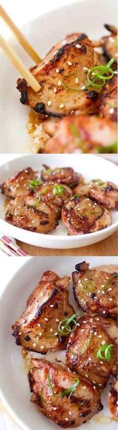 Asian Five-Spice Chicken – deeply flavorful and moist pan-fried skillet chicken marinated with Asian spices & sauces. So easy and so good! | http://rasamalaysia.com
