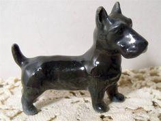 Vintage Metzler & Ortloff Porcelain Scottish Terrier Figurine #5232~Germany