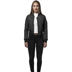 Ladies Diamond Quilt Short Bomberjacke! https://www.rudestylz.de/ladies-diamond-bomberjacke #fashion #bomberjacke #pilotjacke