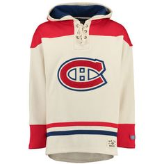 Men's Old Time Hockey Natural Montreal Canadiens Lacer Heavyweight Pullover Hoodie