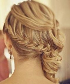 Very nice hairstyle. Maybe for engagement photos