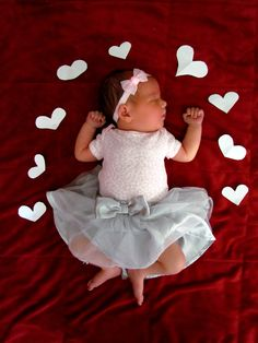 top 17 baby toddler valentine picture ideas creative digital photography tip easy idea 14 4976478275 Cute Animals Monthly Baby Photos, Baby Girl Photos, Newborn Pictures, Baby Pictures, Valentine Picture, Foto Baby, Baby Poses, Newborn Baby Photography, Baby Kind