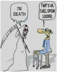 Funny picture. Humor. Death. Grim reaper