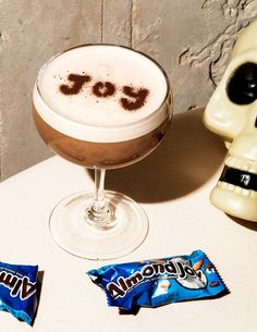 Halloween-Candy Cocktails, Costume Not Required | Almond Joy