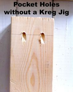 A Kreg Jig is a helpful tool to have around the house. But if you're like me and don't want to spend $100 on a piece of plastic with holes, try this method. Yes…