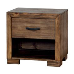 Shop for Furniture of America Marchez Rustic Nightstand with Built-in USB/Power Outlet. Get free shipping at Overstock.com - Your Online…