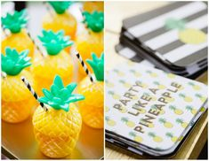 Cute plastic pineapple cups from oriental trading!