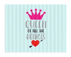 Queen of Hearts Svg, Queen of all the Hearts, Valentine,Valentines Day Svg-Png-Dxf-Eps Cutting Files For Cricut/ Cameo & More. by CutItUpYall on Etsy