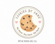 home letras cookie logo bakery logo baking logo bakers logo premade logo Logo Cookies, Cookies Branding, Dessert Logo, Baking Packaging, Cookie Packaging, Logo Sticker, Sticker Design, Logo Dulce, Pastry Logo