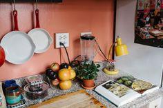Alexis Georgopoulos — Artist, Musician & DJ, Apartment, Chelsea/Flat Iron, New York. Kitchen Dining, Kitchen Decor, Kitchen Ideas, Pastel Kitchen, Chelsea, Kitchen Paint Colors, New York, Decoration, Retro